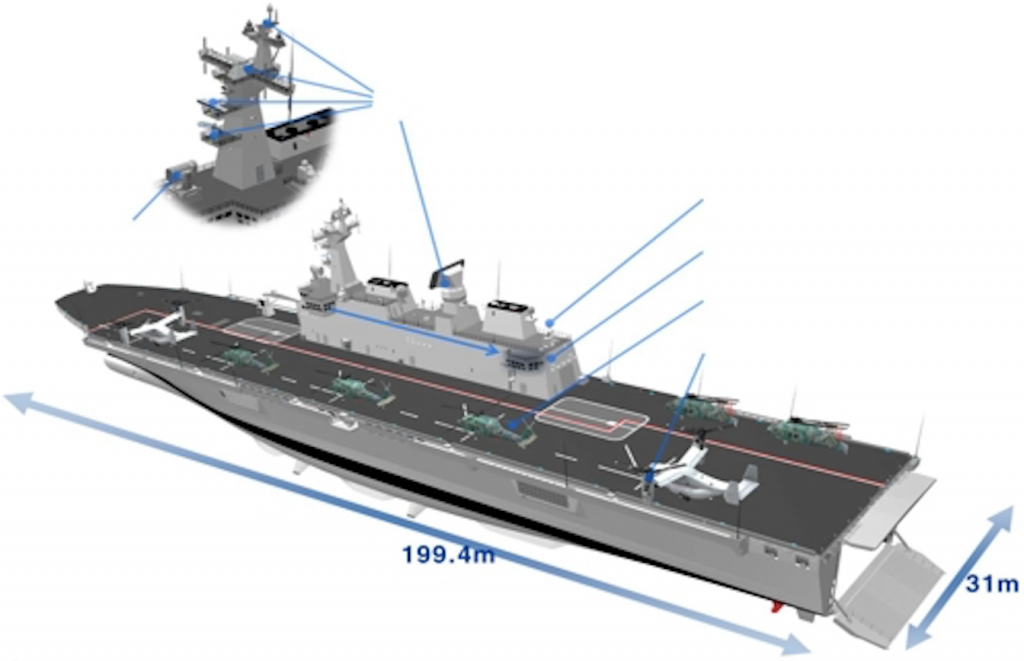 The ship, 199.4 meters long and 31 meters wide, is scheduled to be launched in April next year. (image: Defense Acquisition Program Administration)
