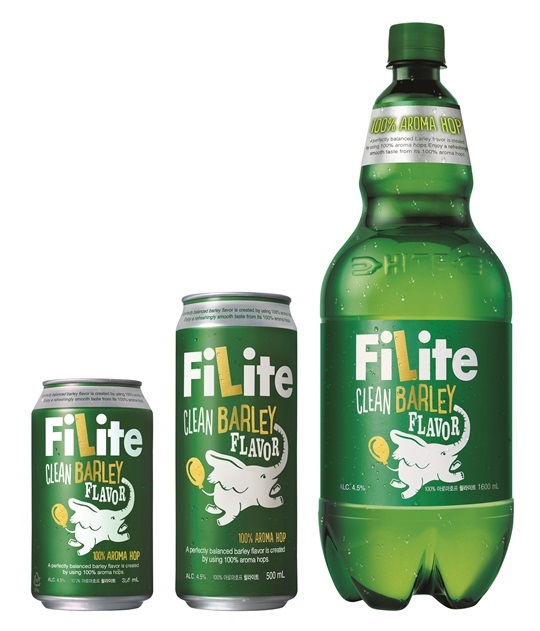 A 355-milliliter can of Filite will be priced at 717 won ($0.63), which is about 40 percent cheaper than its competitors. (image: HiteJinro)