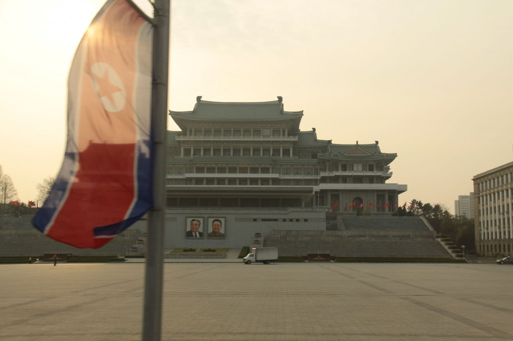 Kim Il-sung Square in central Pyongyang, North Korea. (image: KobizMedia/ Korea Bizwire)
