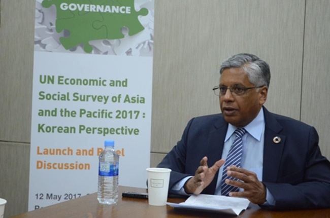 Kilaparti Ramakrishna, head and director of the U.N. Economic and Social Commission for Asia and the Pacific (UNESCAP) East and North-East Asia Office, speaks during an interview on May 12, 2017. (Image: UNESCAP's East and North-East Asia Office)