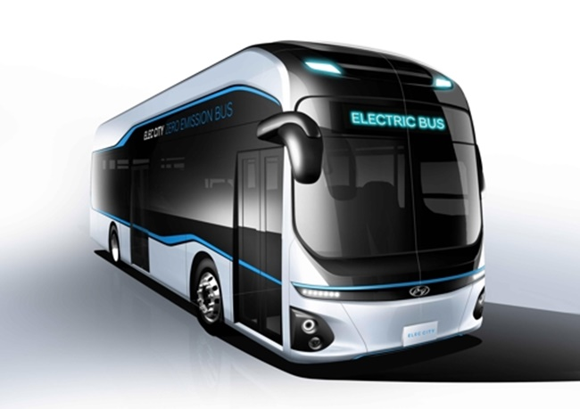 Hyundai Motor's emission-free electric bus 'Elec City' (Image: Hyundai Motor)