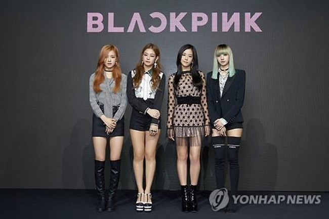 "In this photo provided by YG Entertainment, South Korean girl group BLACKPINK poses for photographers during a showcase in Seoul on Aug. 8, 2016, to promote its debut single album ""Square One."" (Image: Yonhap)"