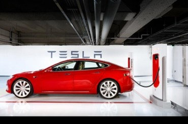Tesla sets up 1st supercharger in S. Korea