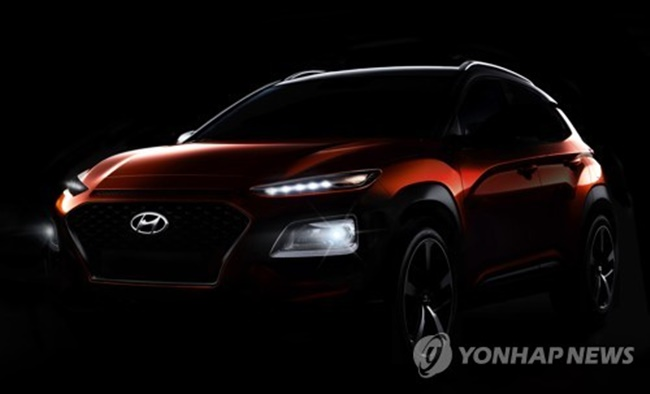South Korea's largest carmaker by sales is set to make its foray into North American and European markets this summer with the Kona SUV. Hyundai said the B-segment SUV market, which its new vehicle falls into, has been attracting growing number of customers globally. (Image: Yonhap)