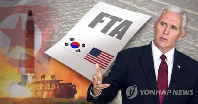 "South Korea's businesses remain concerned after U.S. President Donald Trump told Reuters in an interview last week that he will either renegotiate or scrap the free trade deal with South Korea, calling it ""horrible."" (Image: Yonhap)"