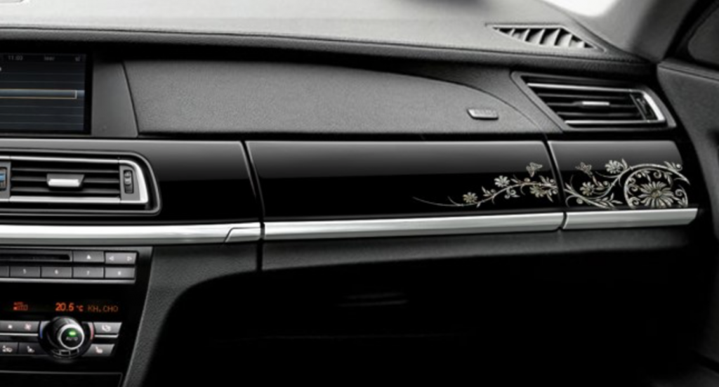 BMW Korea presented the BMW 7 Series Korean Art Edition with an interior inspired by Korean traditional decorations. (image: BMW Korea)