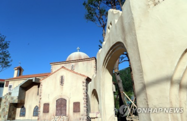 Greek Church from K-Drama 'Descendants of the Sun' Restored in Taebaek