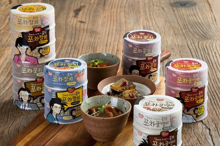 Dongwon Pocha lineup of canned beer snacks by Dongwon F&B. (image: Dongwon F&B)