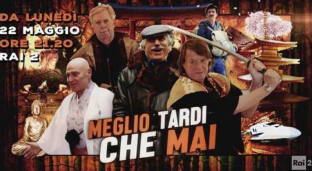 "The Italian version, titled ""Meglio Tardi che Mai,"" which is translated into ""Before It is Too Late,"" began broadcasting on Monday. (image: tvN)"