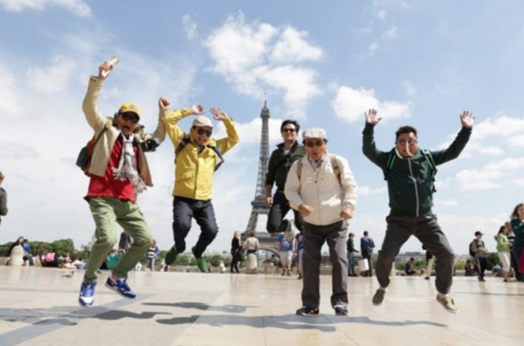 The show, which aired on tvN from 2013-15, features four veteran actors in their 70s and 80s going on a backpacking tour. (image: tvN)