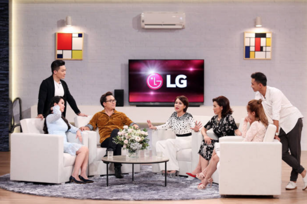 The product placement is LG's latest effort to bolster its image as a premium brand in the Southeast Asian country. (image: LG)