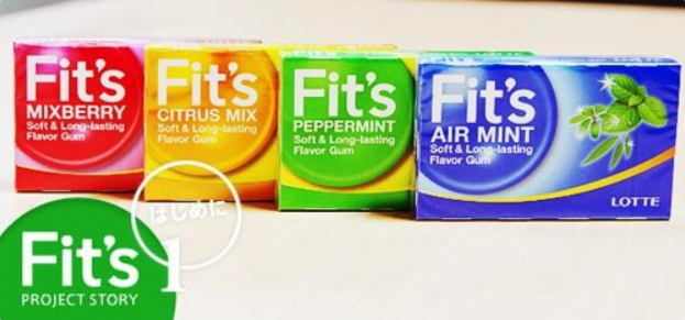 Soon after the release, the new beer's trademark was cited for being too similar to the Fit's chewing gum sold by Lotte in Japan. (image: Yonhap)