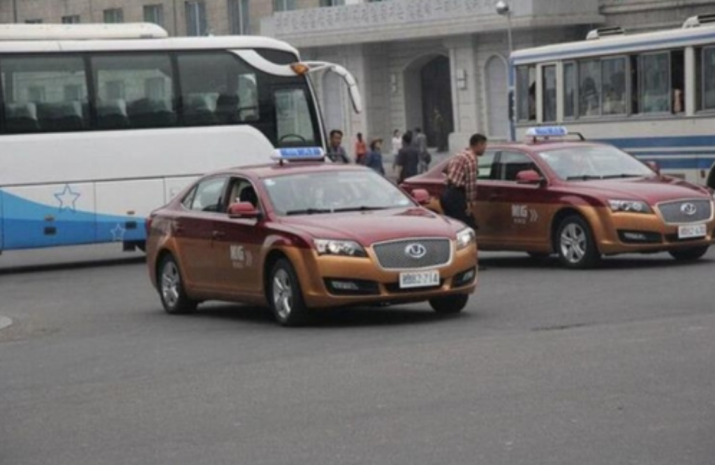 Chinese-made taxis in Pyongyang. (image: Chinese web portal Shou via Yonhap)
