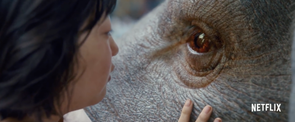 "Co-written by Bong and Jon Ronson of ""Frank,"" Okja tells the story of a young girl who risks everything to prevent a multinational company from kidnapping her best friend -- a massive animal named Okja. (image: YouTube capture)"