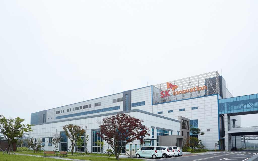 SK Innovation's EV battery cell plant in Seosan, South Chungcheong Province. (image: SK)