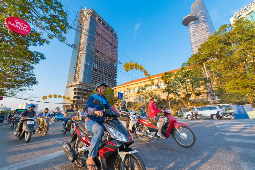 Motorcycles account for nearly 90 percent of all means of transport in the Vietnam, with around 5.2 million motorcycles registered in the capital alone. (Image: Kobiz Media)
