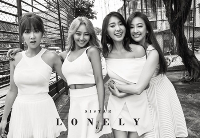 """Lonely,"" an acoustic R&B song released Wednesday afternoon, topped seven music streaming charts, including Melon, Olleh Music, Naver Music and Bugs Music, as of 8:30 a.m. The track was produced by Sistar's longtime collaborator Black Eyed Philseung. (Image: Yonhap)"