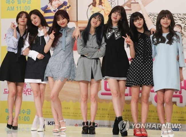 "The cast of KBS TV's web series ""Idol Drama Operation Team"" pose for the camera on June 1, 2017, at a press conference held at the Time Square mall in western Seoul. (Image: Yonhap)"