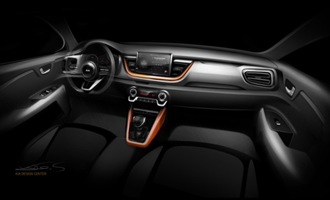 A rendered image of the interior of Kia's Stonic SUV (Image: Kia Motors)