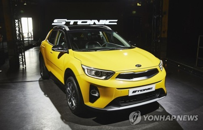 Kia Motors has developed the Stonic subcompact SUV as part of its efforts to absorb growing demand for SUVs at home and abroad amid a global economic recovery and low oil prices. (Image: Yonhap)