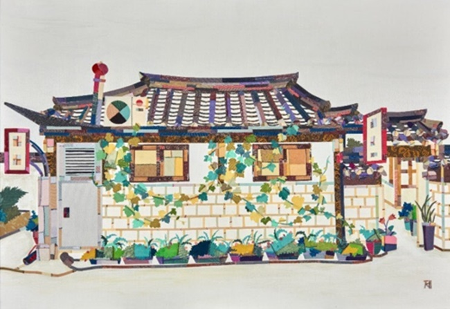 "This image provided by artist Je Mi-young shows her 2017 work ""Scenery with House."" (Image: Yonhap)"