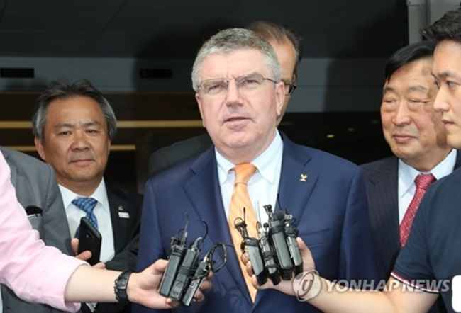 IOC President Calls Joint Korean Team at PyeongChang 'In Spirit of Olympism'