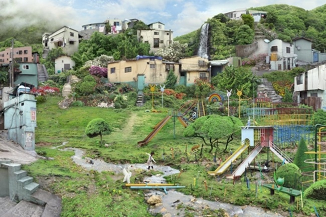 "The image provided by South Korean artist Won Seoung-won shows ""A Strange Playground"" from the series ""My Age of Seven"" in 2010. (Image: Yonhap)"