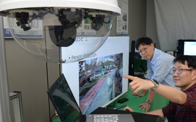 A South Korean research team has partnered with the National Police Agency to develop an artificial intelligence CCTV system. (Image: Electronics and Telecommunications Research Institute)