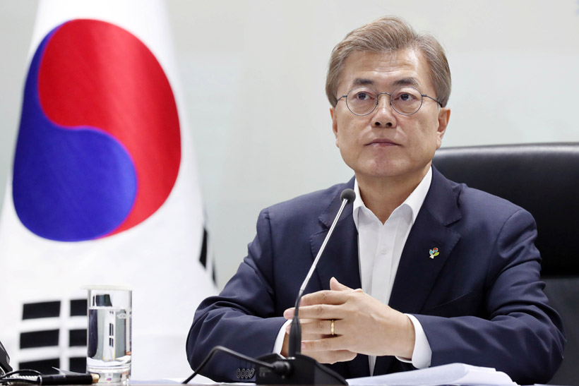 The drop in Moon's approval rating apparently follows the recent controversy over some of his picks for new ministers and other ranking officials, including the head of the Fair Trade Commission. (image: Cheong Wa Dae)