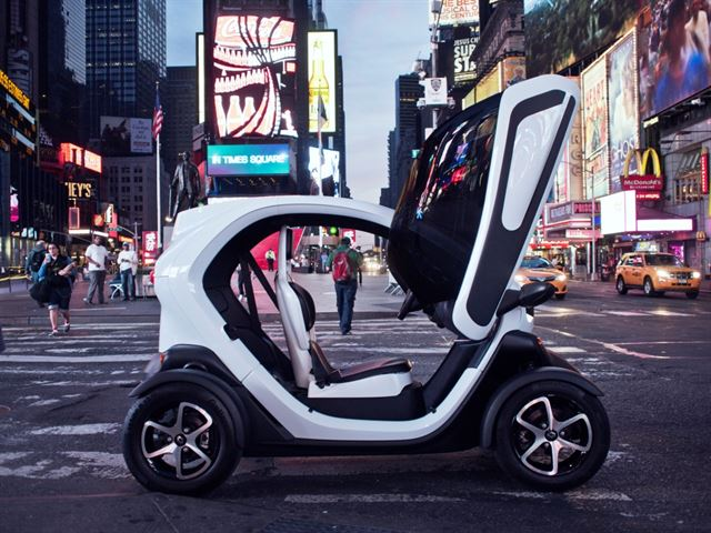 Renault Samsung's Twizy micro electric vehicle (image: Renault Samsung)