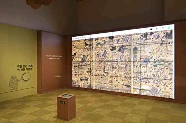 Google has launched a children's pop-up exhibition at the National Museum of Korea which allows visitors to engage with the arts, using the latest artificial intelligence and virtual reality technology to draw digital pictures and enjoy high-resolution images of famous paintings.(Image: National Museum of Korea)