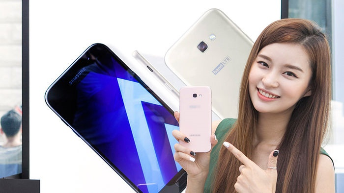 South Korea's No. 1 mobile carrier SK Telecom Co. said it will start the sales of the 5.7-inch Galaxy A7 this week. (Image: Samsung Electronics)
