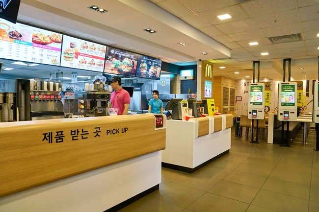 On Sunday evening, the McDonald's by Seoul's city hall, which would normally have been bursting with hungry customers, was quietly devoid of activity. (Image:Kobiz Media)