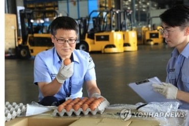 Eggs Imported from Thailand Arrive in South Korea