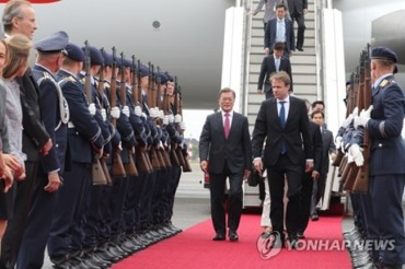 South Korean President Arrives in Hamburg for G20 Summit