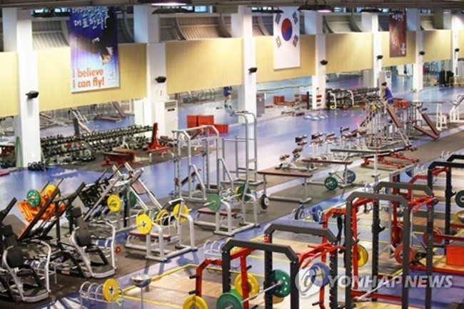This photo taken on July 6, 2017, shows a gym at the Jincheon National Training Center in Jincheon, North Chungcheong Province. (Image: Yonhap)