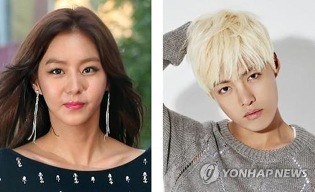 This combined photo shows actress Uee (L), a former member of South Korean girl group After School, and singer Kangnam. Uee, 29, and Kangnam, 30, have been dating since April, entertainment sources said July 14, 2017. (Image: Yonhap)
