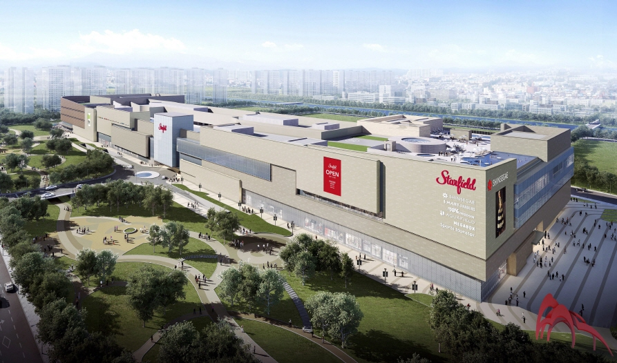 Artist's rendition of Shinsegae's third all-in-one shopping theme park Starfield Goyang (image: Shinsegae)