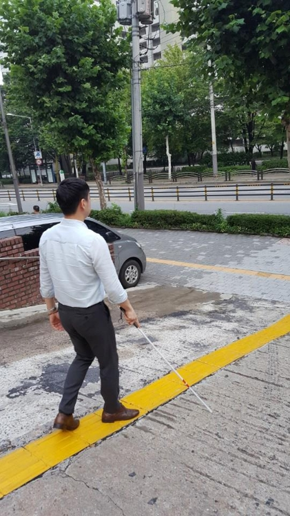 Gangnam District Office in Seoul has announced plans to build visually impaired friendly streets in the neighborhood using IoT technology. (Image: Gangnam District)