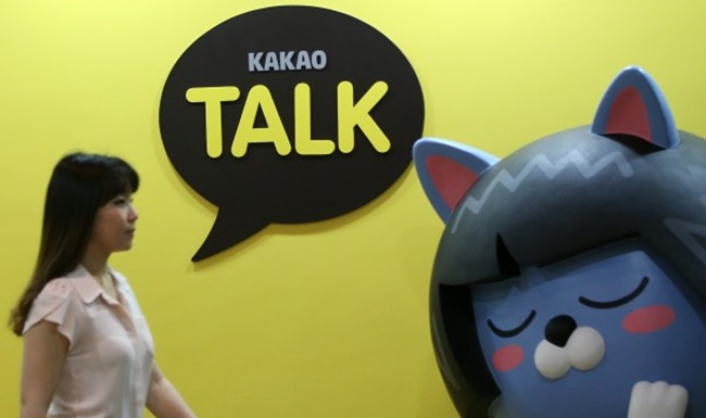 Among Android smartphone users in the country, Kakao was branded the most popular mobile app maker both in the number of users and the average time of use, boasting a user base of 35 million for all of its mobile services including Kakao Talk, Kakao TV, Kakao Map and Kakao Taxi, according to a survey based on data from last month conducted by mobile app analytics company WiseApp. (Image: Yonhap)