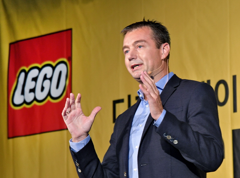 Michael Ebbesen, chief of Lego Korea Co., speaks during a press conference held over the launch of its social media platform Lego Life here in central Seoul on July 10, 2017. (image: Lego Korea)