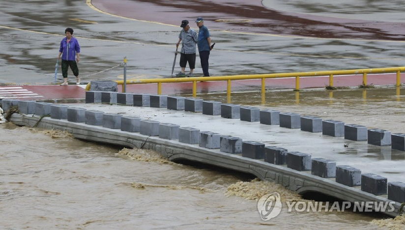 Cheongju, recently hit by torrential rain, reported 57.3 billion won (US$51.5 million) in damage. (image: Yonhap)