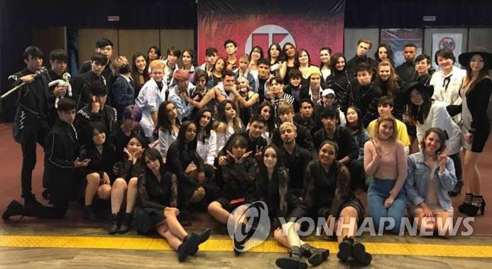 The annual K-pop contest saw over 16 teams that passed a video audition compete in the preliminaries, with the winners representing Brazil at the K-Pop World Festival, an annual event organized by South Korea's Ministry of Foreign Affairs. (Image: Yonhap)