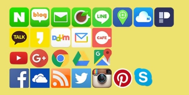 One thing in common among the three major mobile app makers is that they all offer portal, messaging, social media, video streaming and map services. (Image: Kobiz Media)
