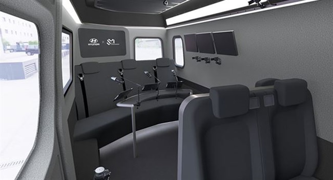A collaboration between S.M. Entertainment and Hyundai Motor will see artists from one of the biggest South Korean entertainment companies hit the airwaves in a special mobile studio based on Hyundai's Solati van. (Image: Hyundai Motors)