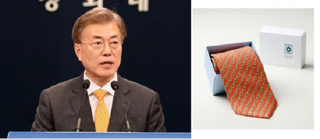 "As approval ratings for President Moon continue to climb and climb, a byproduct of his popularity has been a surge in consumer preference for ""Moon Brand"" products. (Image: Yonhap)"