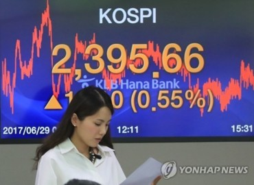 South Korean Shares End Lower on Foreign Selling Amid Tensions over North Korea
