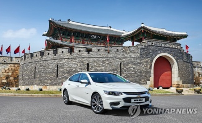 The company said it started receiving preorders for the refreshed Malibu midsize sedans. (Image: Yonhap)