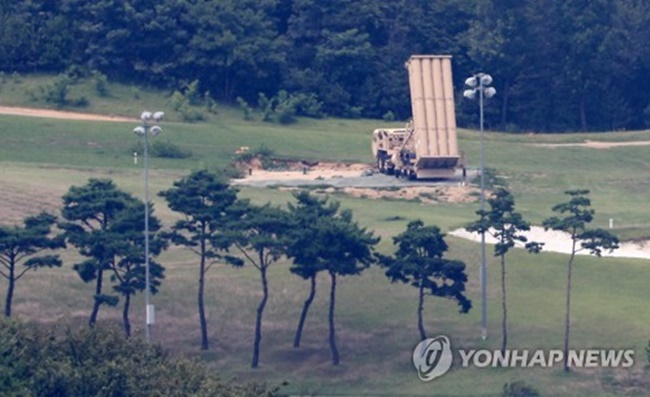 The Ministry of National Defense has said it is 'regretful' that the environmental safety and noise test of the THAAD anti-missile system in Seongju in North Gyeongsang Province took place without the participation of local residents. (Image: Yonhap)