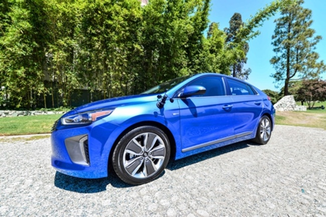 A new art and technology project based on Hyundai's renewable energy car IONIQ has been unveiled in the U.S., the carmaker announced on Monday. (Image: Hyundai Motors)